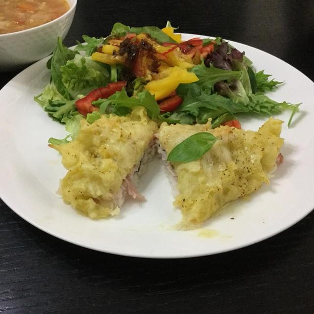 🐟白身魚のマッシュポテト焼き🍴