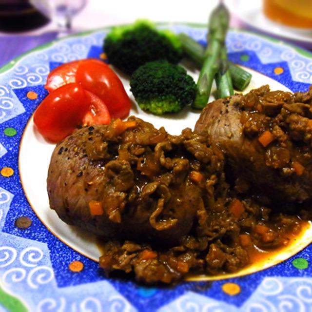肉巻きライスハンバーグ♪ 一皿で大満足~♪