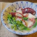 タコと菜の花の酢味噌和え by KOICHIさん