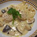 乾物でイタリアン♡フラパンどんこ椎茸と湯葉のクリーム煮 by とまとママさん