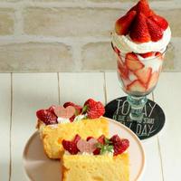 * 苺のチーズシフォンケーキ♪