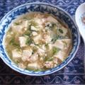 味付けはめんつゆのみ!簡単!鶏ひき肉と豆腐の煮物