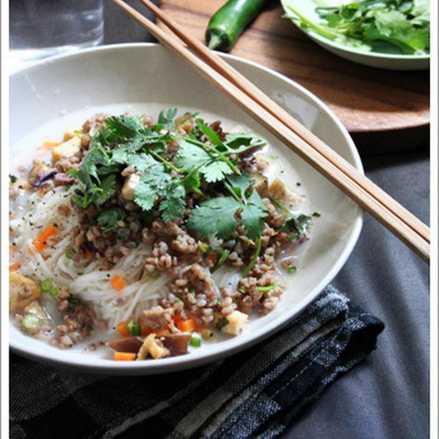タイ風ココナッツスープ・ラープ素麺  ♡時短