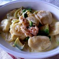 【タカナシ生クリーム】里芋のニョッキ カニとアボガドのクリームソース