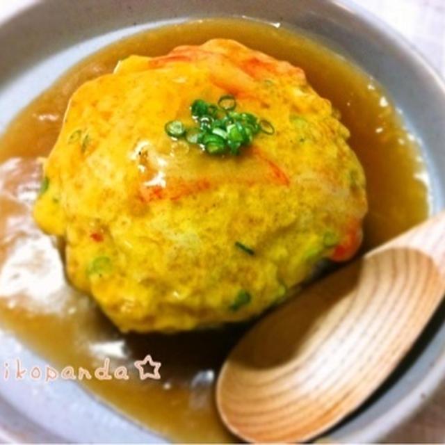 卵1個で作る☆山芋入りふんわり優しい天津飯
