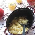 ストウブで♪ シナモン風味の、りんごの甘煮