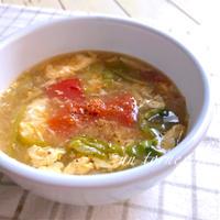 レタス1/2玉で風邪予防‼︎レタスとトマトの酸辣湯(サンラータン)♡レシピ