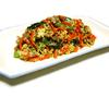 レンジで簡単混ぜるだけ!ナツメグ香る彩り野菜とひき肉たっぷり具だくさん炒り卵風