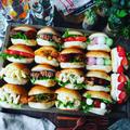 サンドイッチ色々❤️と、春休みのランチにも❤️色々楽しいロールパンサンド❤️