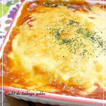 ★ほうれん草トマトクリームのオーブン焼き★