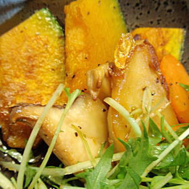 焼き野菜サラダ・甘酢風ドレッシング(レシピ付)