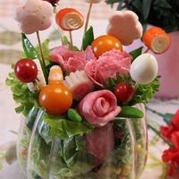 母の日♡ブーケサラダ&娘からのプレゼント