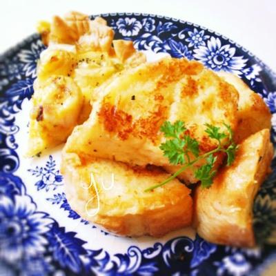 豆乳フレンチトーストとキッシュで朝ご飯