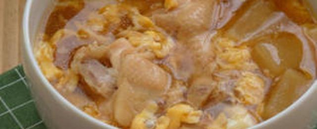 うまみが凝縮!鶏手羽元のボリューム満点スープ