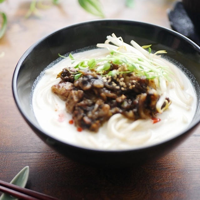 【豆乳で作る担々麺~おうち時間】