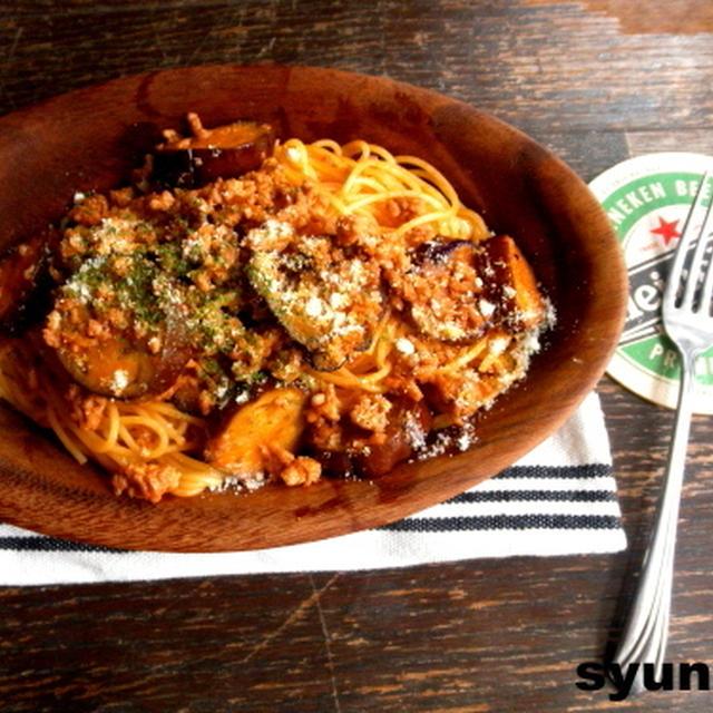【簡単!!喫茶店のスパゲッティ】なすとひき肉のナポリタン
