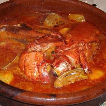 あんこうとシーフードのスケッツ(スープ) Suquet de rape y mariscos