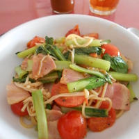 生姜風味な野菜のパスタ
