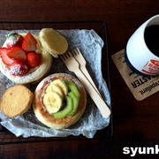 【簡単!!】イングリッシュマフィンでおやつパン*レンジで作るカスタードクリーム
