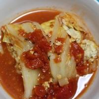 [レシピ]ヘルシー!お豆腐のロール白菜