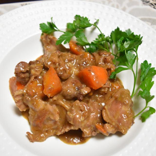 ローラの食卓風、ウサギのシチュー。アメリカ開拓時代のお料理を現代風に簡単に。