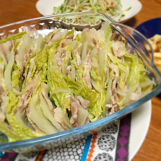 ☆圧力鍋で作る白菜と豚バラの重ね蒸し