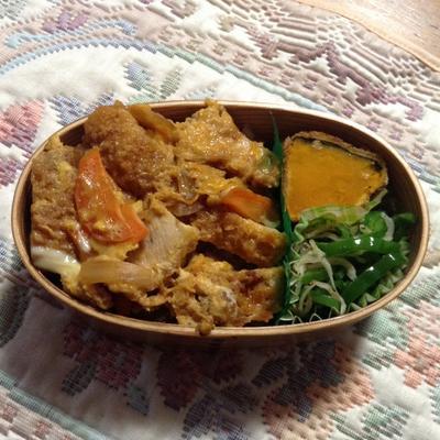 ≪グランマ弁当カツ丼とパンプキンフライ ≫と将棋