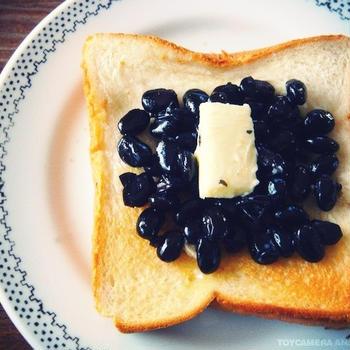 余ったおせちでウマ死!「黒豆バタートースト」