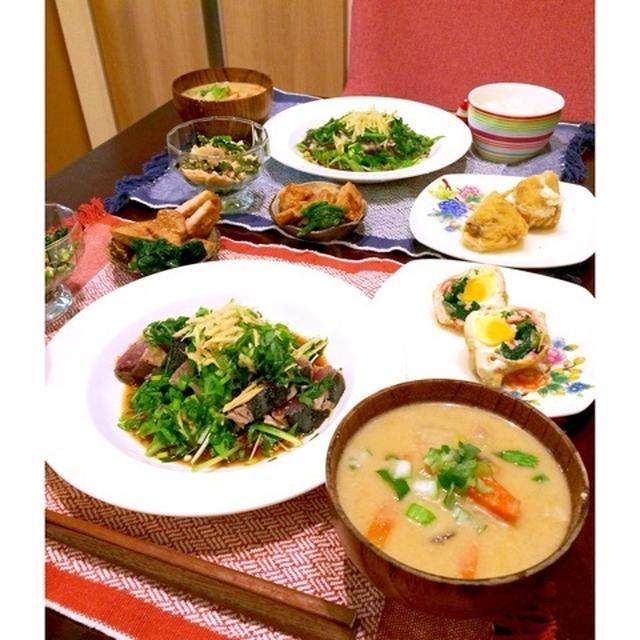 【日本酒におすすめ】鰹のたたき定食と身体の芯からあったまる粕汁のレシピ