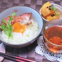 簡単ふんわりご飯。 黒胡椒ぴっり♪『カルボナーラご飯』