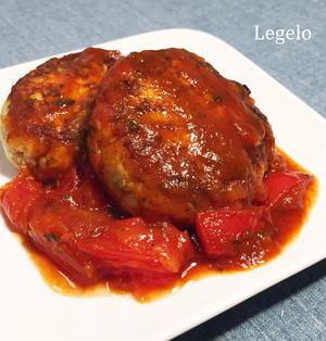 しっとり♪ 野菜おからハンバーグと完熟トマトソース☆