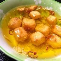 こんがりチーズのガーリックオイル漬け(別名:ぬれチーズ)