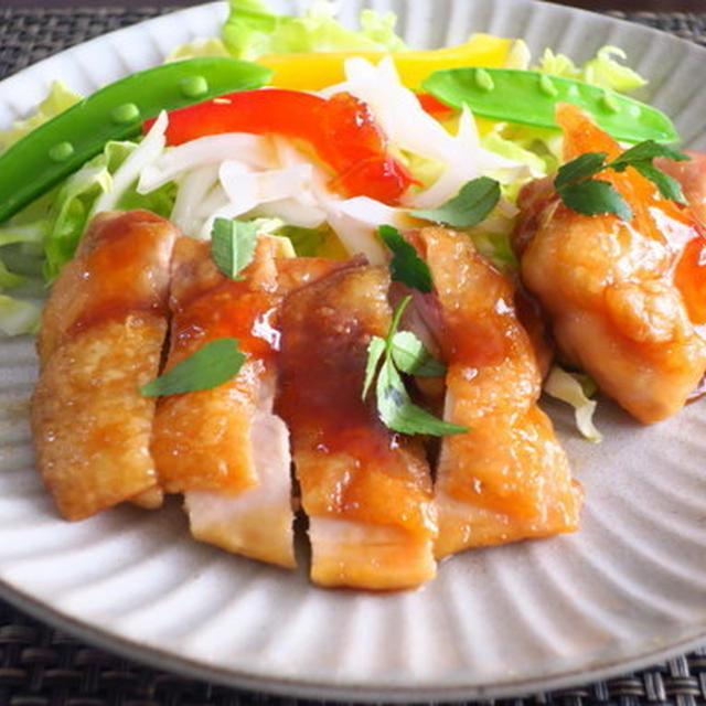 フライパン焼きとり ~韓国産「ゆず茶」を使って