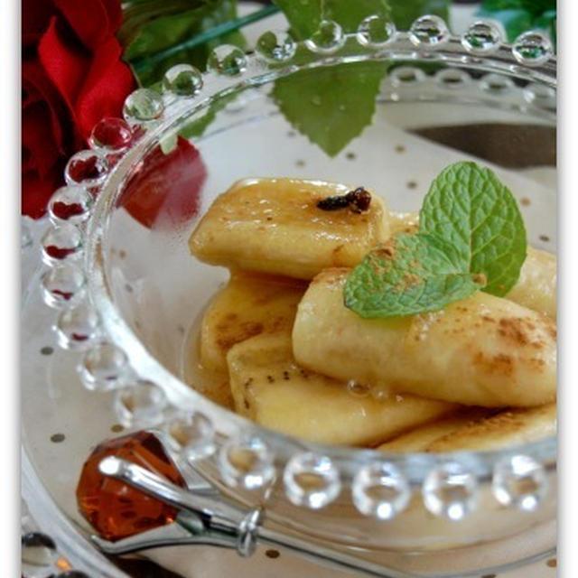 食べごろを待たずに美味しいバナナのメープル煮
