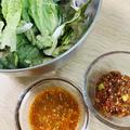 【レシピあり】ピリ辛ドレでサニーレタスサラダを食べよう!置き換えレシピだよ~
