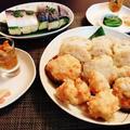 摘果みかんde寿司めしうまし鯖寿司&蓮根の海老の挟み揚げ♪