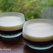 レンジで簡単、二層のコーヒーゼリー☆