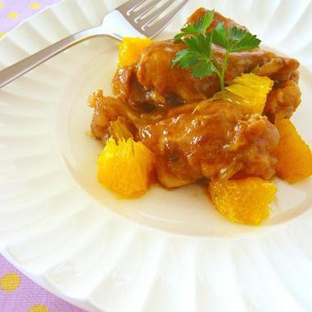 炊飯器でスイッチぽん♪鶏手羽元のオレンジ煮