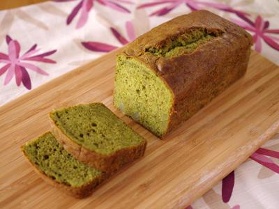 ホットケーキミックスで簡単☆抹茶と栗の和風パウンドケーキ