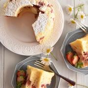 オーブン不要!ホットケーキミックスで♪レンジいちごケーキ4選