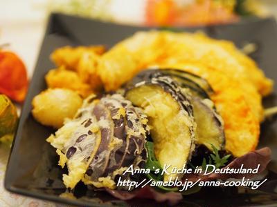 【主菜】天ぷらをサクサクに揚げるコツあり♡秋野菜の天ぷら と手帳と日記