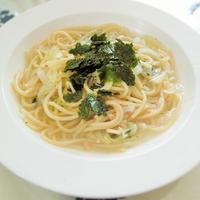 ◇フライパン1つで☆しらすとツナのわかめスープスパゲティ