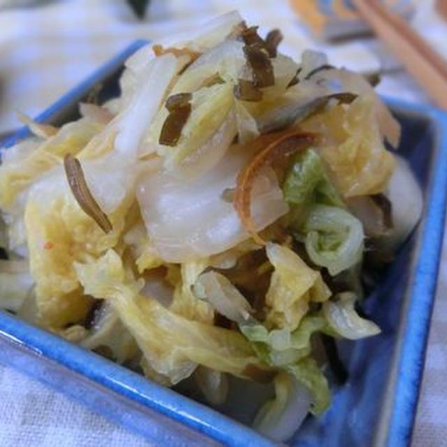 酢生姜を入れたらさらに好みに仕上がった♪ 白菜と柚子昆布生姜漬け