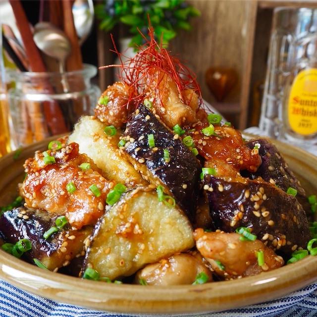 【レシピ】豚こまがジューシーに♬豚肉と茄子の甘酢炒め♬