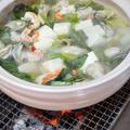 炭火で作る『浜名湖産牡蠣の寄せ鍋』