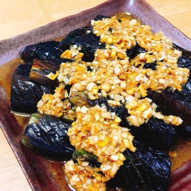 無限に食べられる一品、簡単なす料理。ネギ塩ごまだれの作り方。