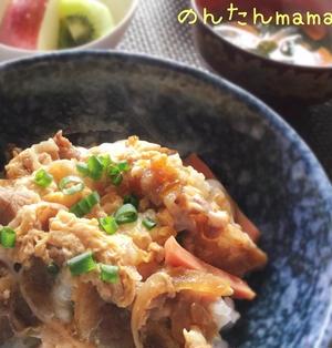 一手間で美味しい♡牛こまの卵とじ丼(他人丼)