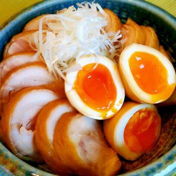 鳥モモ×煮卵☆簡単だけど本格的な作り方♪