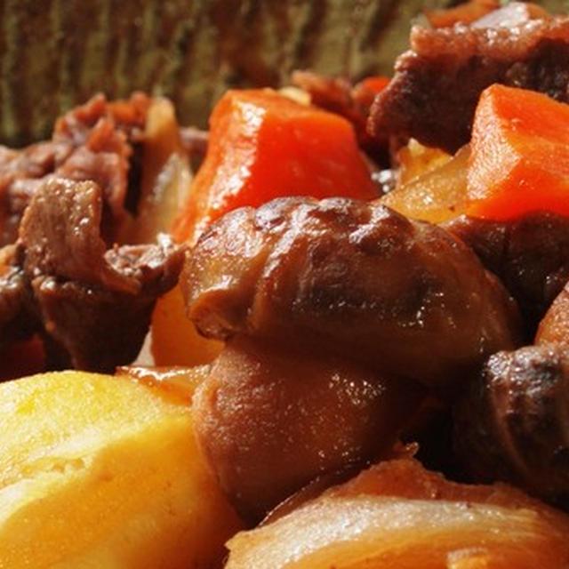 肉じゃがの速煮:黒砂糖で深みのある味付け:カツマーさんの持論について思うこと