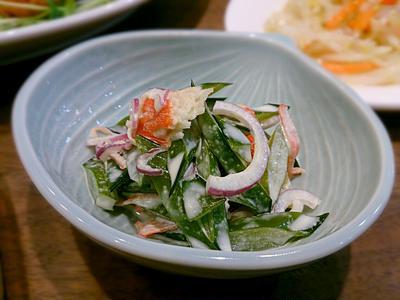 茎わかめとカニカマのサラダ
